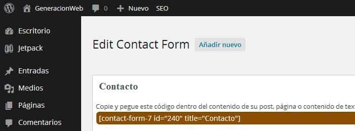 Contact form 7 con fecha de envío