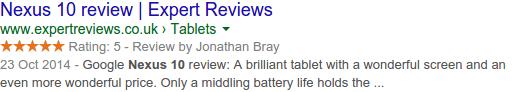 Cómo poner estrellas en los resultados de Google