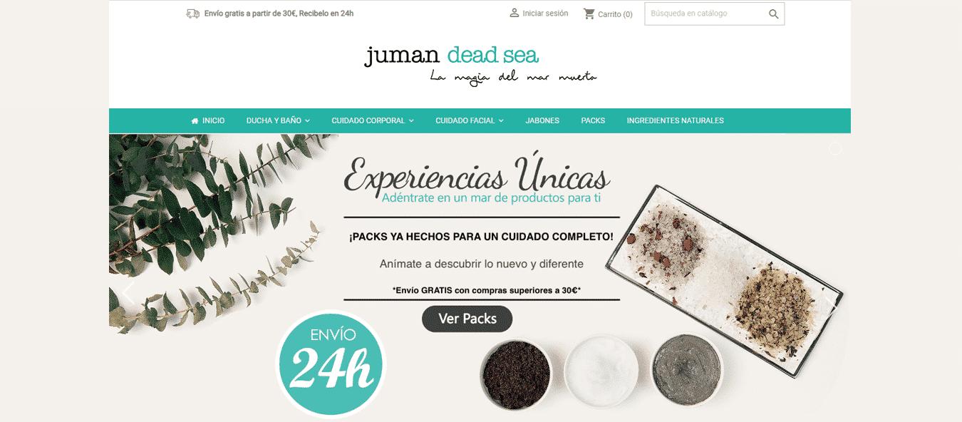 Tienda online de productos cosméticos del Mar Muerto